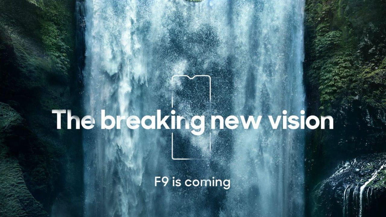 The Oppo F9 Pro teaser.