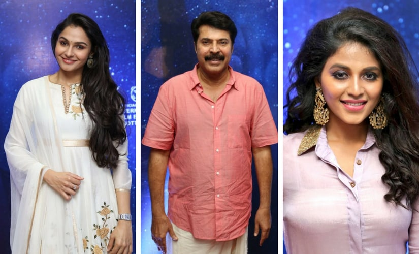 Andrea Jeremiah, Mammootty and actress Anjali/Image from Twitter.