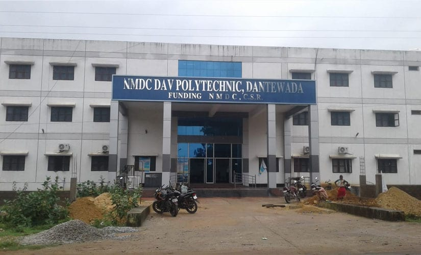 The NMDC-DAV Polytechnic at the edcation city in Jawanga, Geedam. Firstpost/Debobrat Ghose
