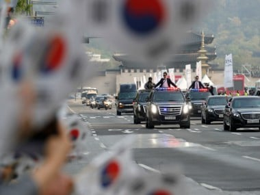 File image of South Korean convoy. Reuters