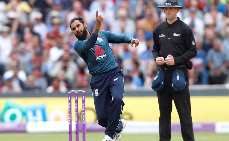 Wrist-spinner Adil Rashid bowled an excellent spell scalping three Indian wickets. The leg break to dismiss Virat Kohli drew lot of accolades and was one of talking points of the game. Reuters taking the wicket of India's Dinesh Karthik Action Images via Reuters/Ed Sykes - RC12FF788BC0