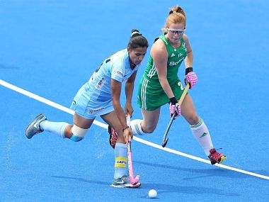 Rani Rampal in action against Ireland.