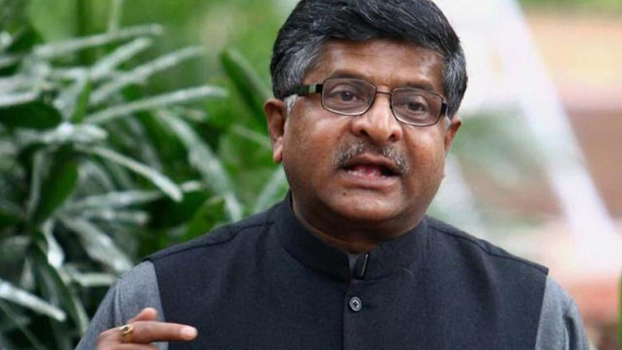 File photo of Law and Justice minister Ravi Shankar Prasad. PTI
