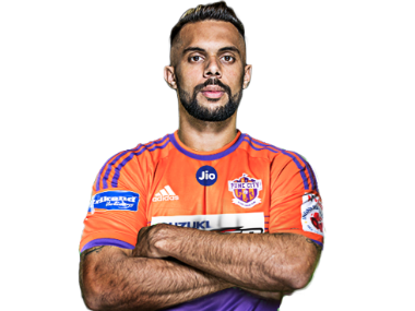 Robin Singh dons the FC Pune City kit. Image credit: Press Release