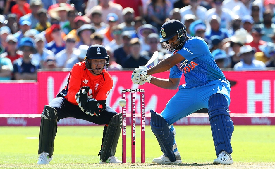 Rohit Sharma scores third century, MS Dhoni becomes first player with 50 catches as India win T20I series against England