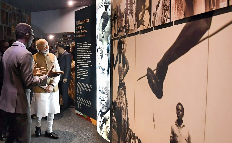 Modi also visited the Genocide Memorial Centre which honours over 250,000 victims of Rwanda's mass killings in 1994. PTI