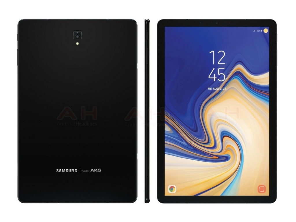 Samsung Galaxy Tab S4 renders appear before launch revealing thinner bezels