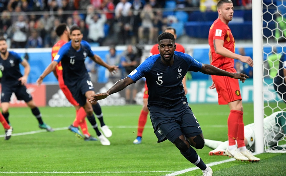 The French team came up against Belgium in the semi-finals. Belgium had been playing some excellent football over the course of the tournament and were scoring goals for fun. However, France's defensive blockade proved to be too difficult to get past, and a Samuel Umtiti goal from a corner was enough for France to scrape through. AFP