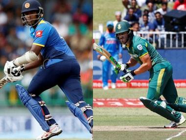 Sri Lanka captain Angelo Mathews and South Africa captain Faf du Plessis. Agencies