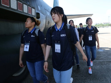The South Korean women's basketball team is sponsored by Nike, but they will look for alternative kit manufacturers for the Asian Games. Reuters