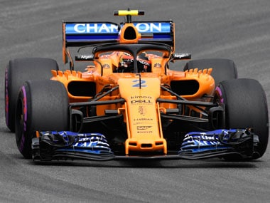 McLaren's Stoffel Vandoorne endured a torrid time at the German Grand Prix practice sessions, finishing in 20th place. AP
