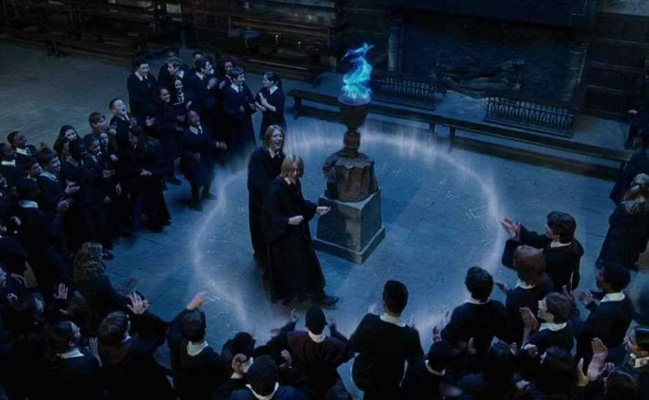 The Triwizard Tournament from Harry Potter and the Goblet of Fire revealed that Hogwarts isn't the only school that teaches magic. Screenshot from YouTube.