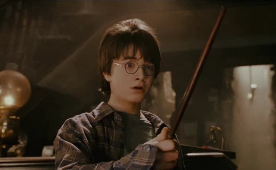 The wand choosing the wizard scene from Harry Potter and the Sorcerer's Stone was the first sign that he is the chosen one. Screenshot from YouTube.