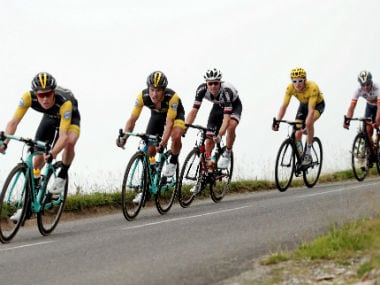 Riders in action during the 19th stage of the Tour de France. Reuters