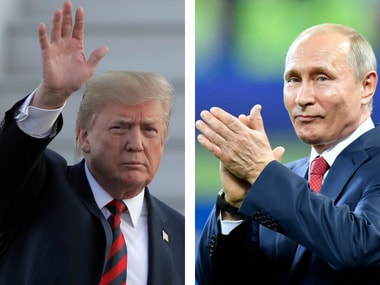 File images of Donald Trump and Vladimir Putin. AP