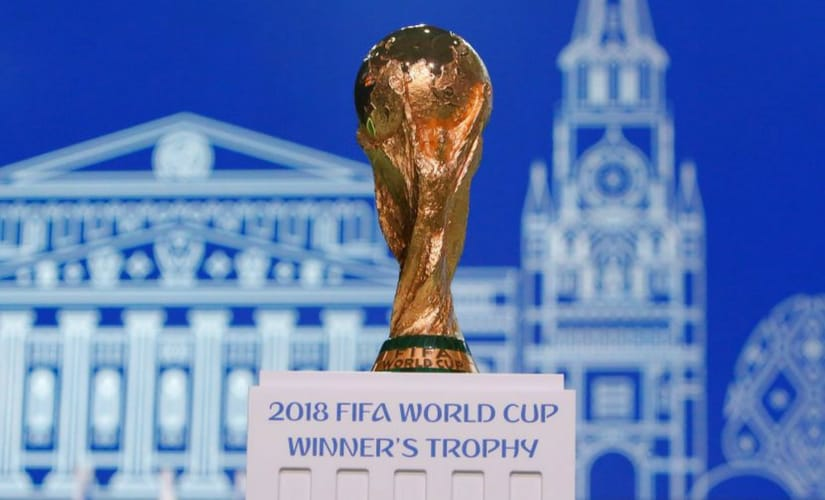 The FIFA World Cup Trophy. Reuters