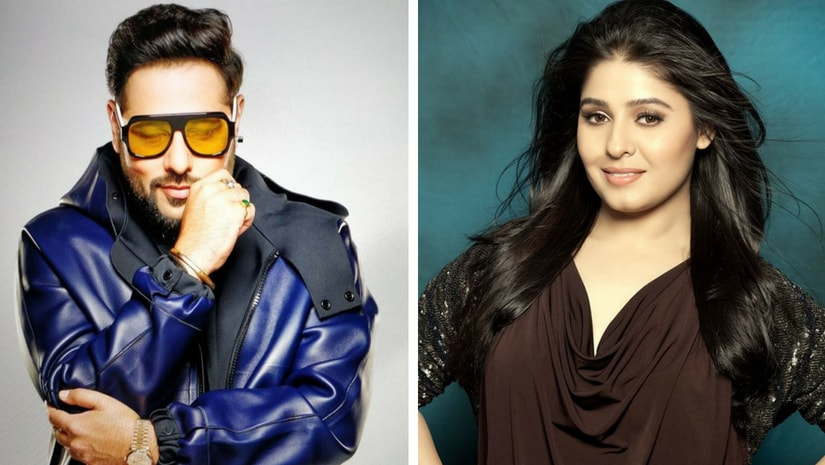 Badshah (left) and Sunidhi Chauhan (right). Images from Facebook