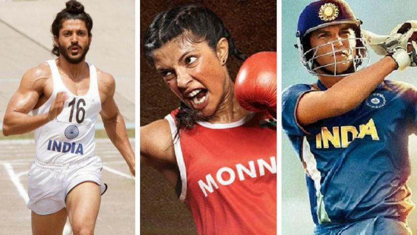 Farhan Akhtar as Milkha Singh, Priyanka Chopra as Mary Kom and Sushant Singh Rajput as MS Dhoni.