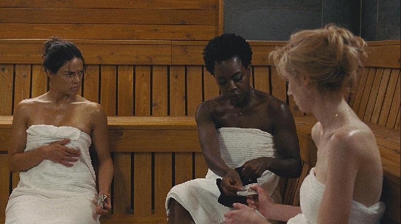 (From L-R) Michelle Rodriguez, Viola Davis and Elizabeth Debicki in Widows. Image via Twitter