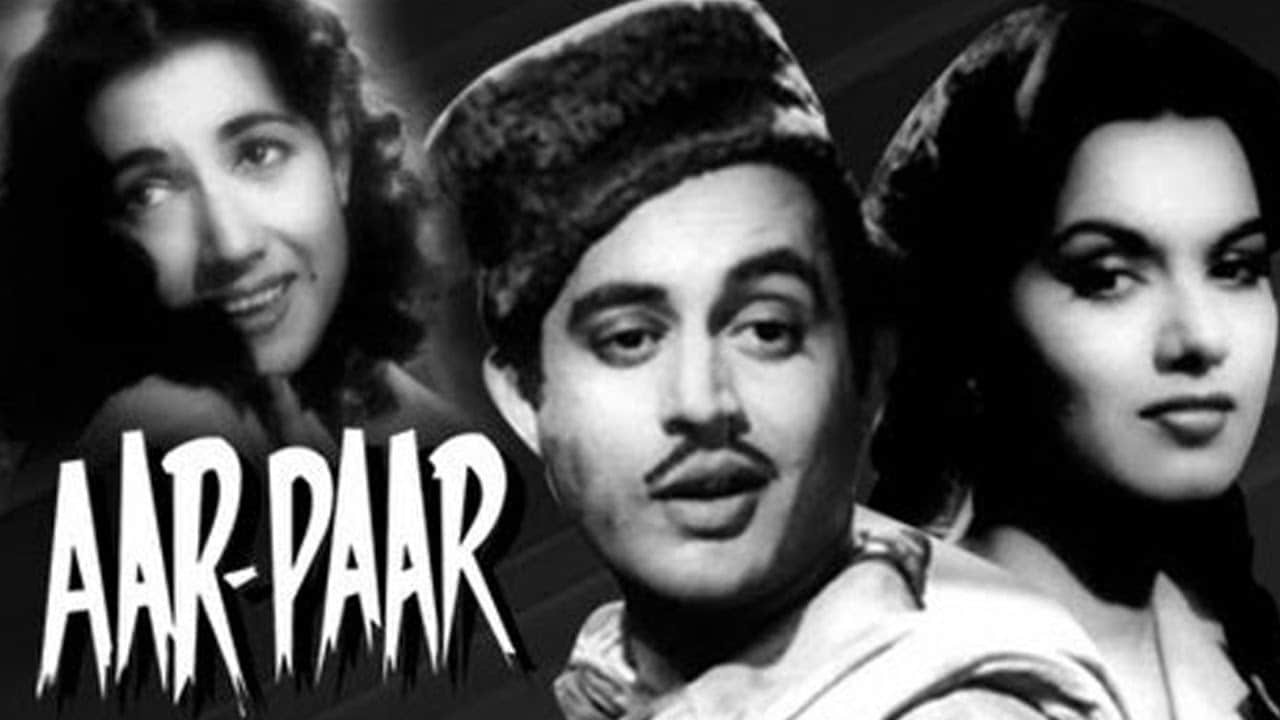 The poster of Aar Paar (1954), a noir-comedy film that featured Dutt along with Johnny Walker, Shyama, Shakeela, Jagdeep and Jagdish Sethi. YouTube screengrab