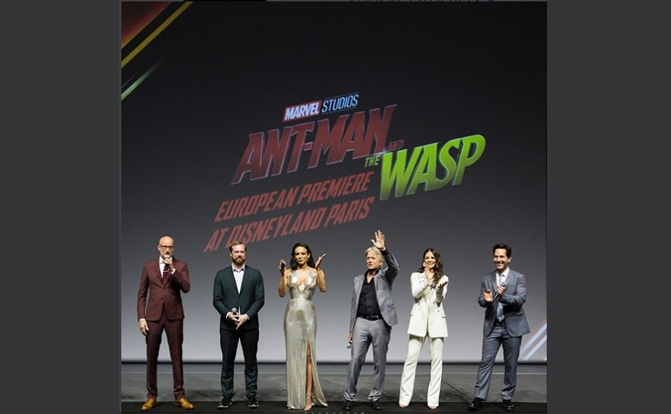 The team of Ant-Man and the Wasp present at the Disneyland premiere. Instagram/@marvelstudios
