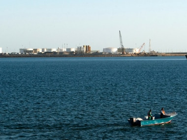View of oil docks at the port of Kalantari in the city of Chabahar. Reuters