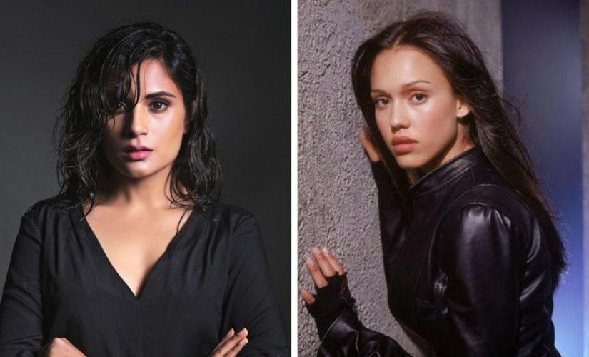Richa Chadha in Inside Edge 2 (L) and Jessica Alba in Dark Angel (R)