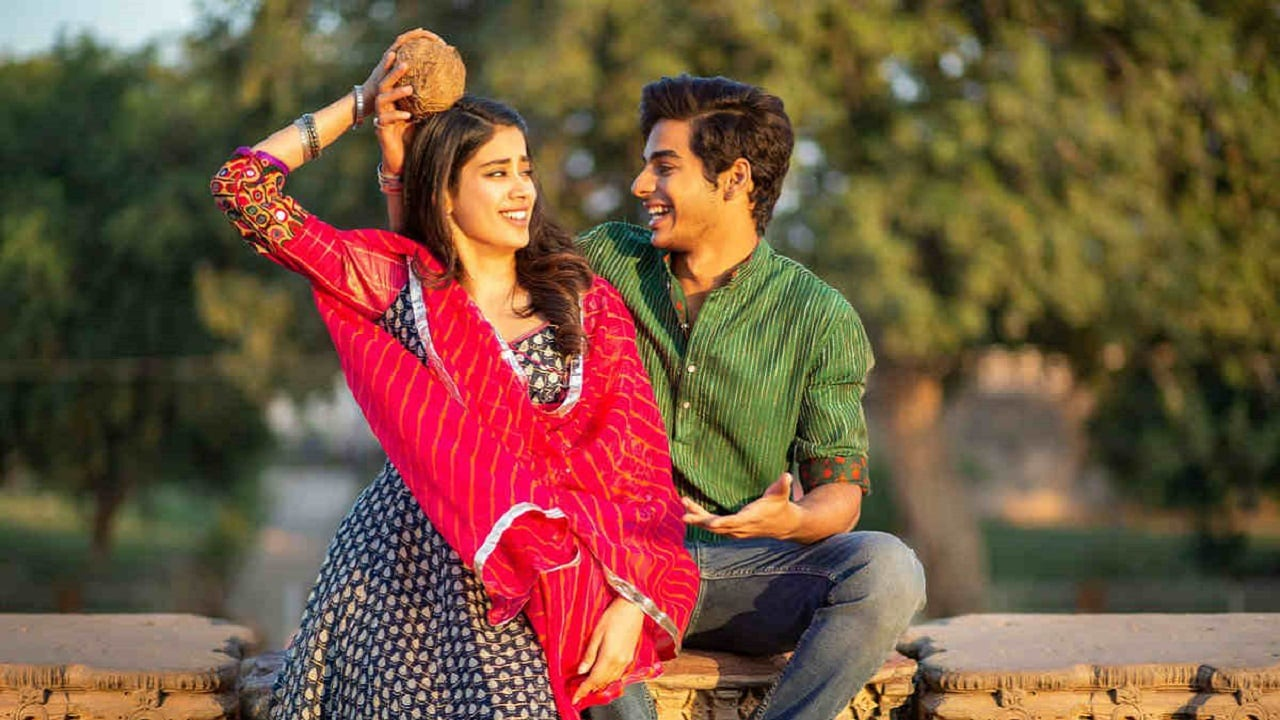 Janhvi Kapoor and Ishaan Khatter in a still from Dhadak. YouTube