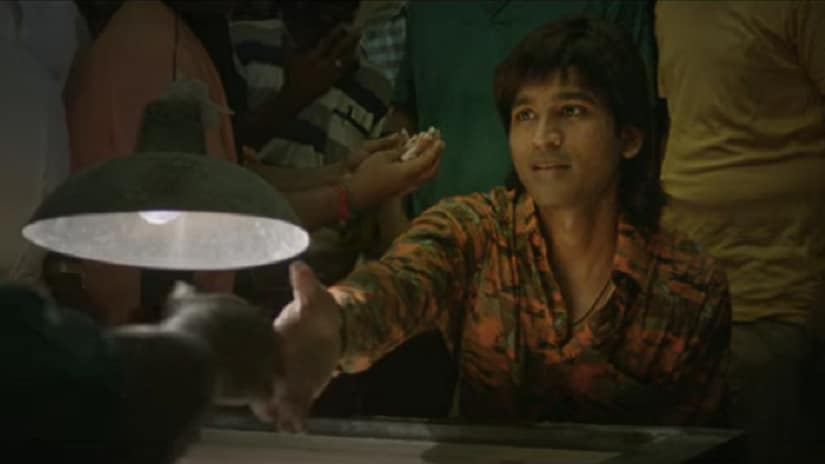 Dhanush in a still from the teaser of Vada Chennai. YouTube screengrab
