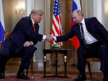 FIle photo of US president Donald Trump and Russian president Vladimir Putin at the Helsinki summit. Reuters
