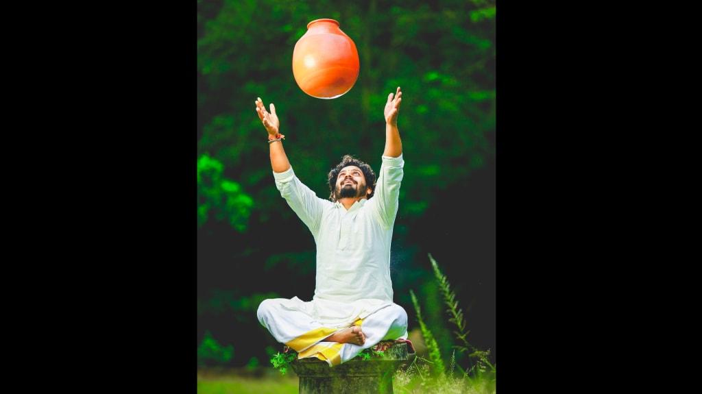 Ghatam player Vazhappally R Krishnakumar