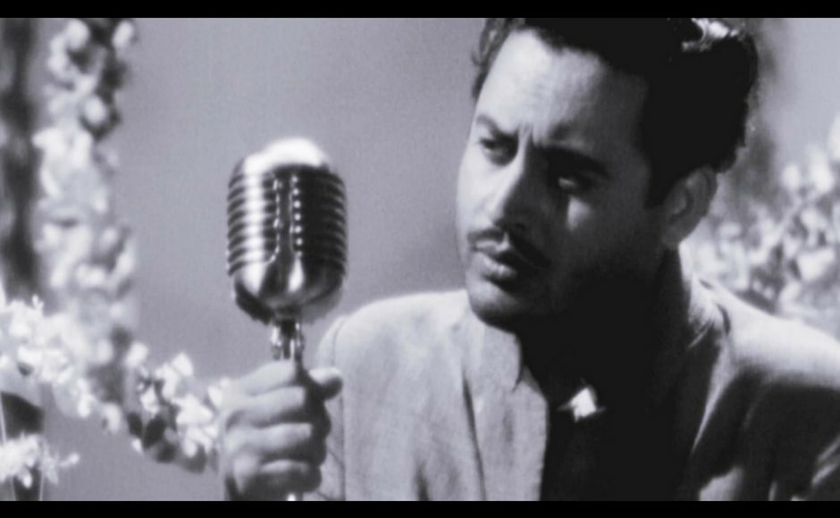A still from Pyaasa (1957), a film that chronicles the life of a struggling poet trying to make his work known in a post-Independence India. YouTube screengrab.