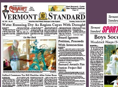 A recent Vermont Standard issue.  Image courtesy: @vermontstandard