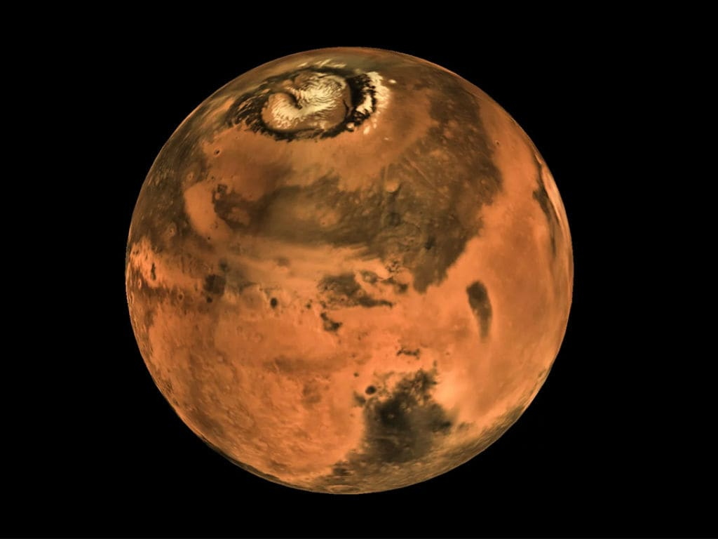 A map of Mars produced from images captured by Mangalyaan. Image courtesy: ISRO