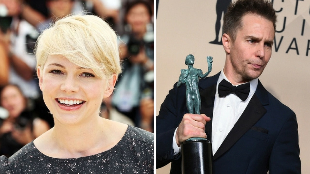 File images of Michelle Williams (left) and Sam Rockwell (right)