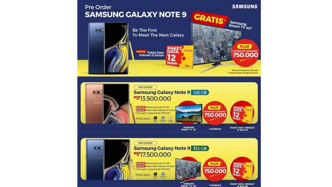 Indonesia poster abuot Note 9.