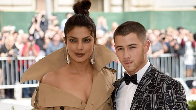 Priyanka Chopra (left) with Nick Jonas (right). Image from facebook