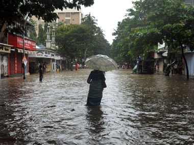 File image of water-logging in Mumbai. AFP