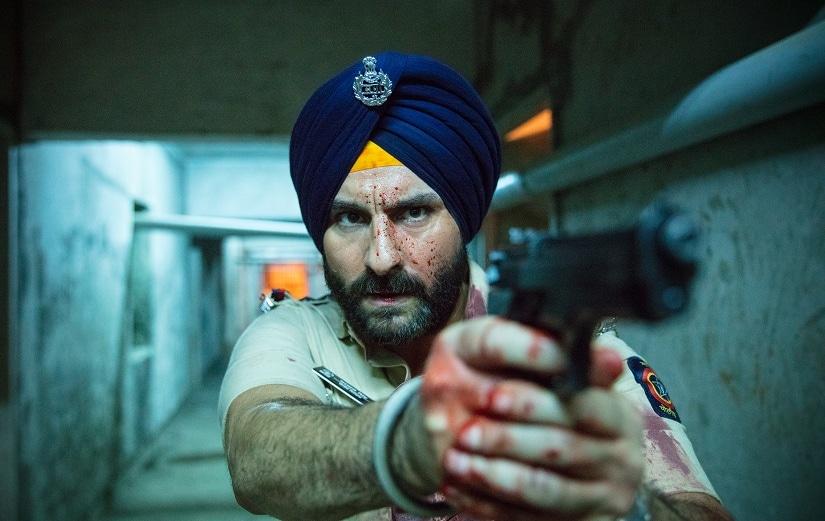 Saif Ali Khan as Sartaj Singh in Sacred Games. Netflix