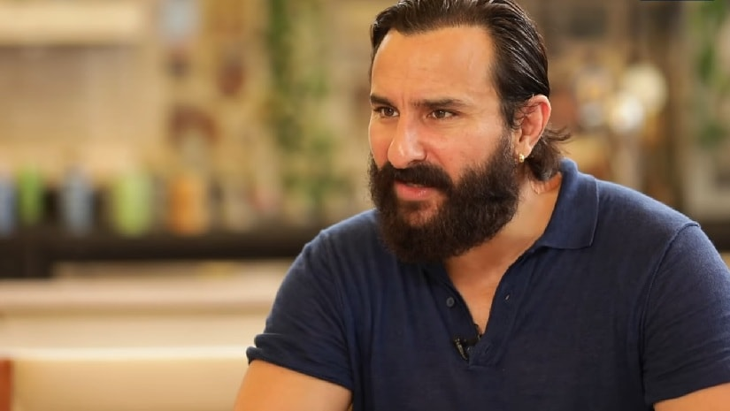 Saif in a recent interview for Sacred Games. YouTube screengrab.