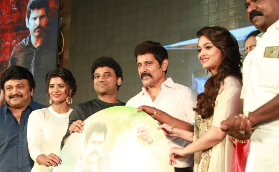 Chiyaan Vikram's Saamy Square, the sequel to the 2003 cop blockbuster Saamy, was held on 23 June at a hotel in Chennai. Twitter@taran_adarsh