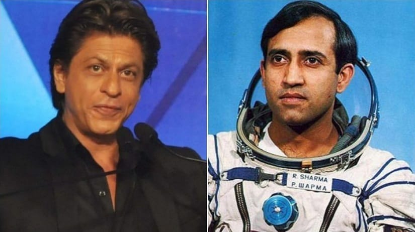 Shah Rukh Khan and Rakesh Sharma. Image from Twitter/@IamPrashantJain