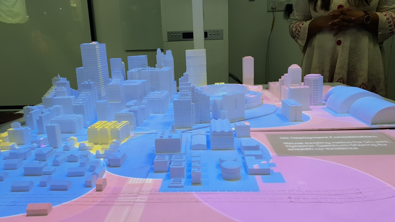 City model rendition of 5G coverage. Photo Credit: Tech2/Nandini Yadav