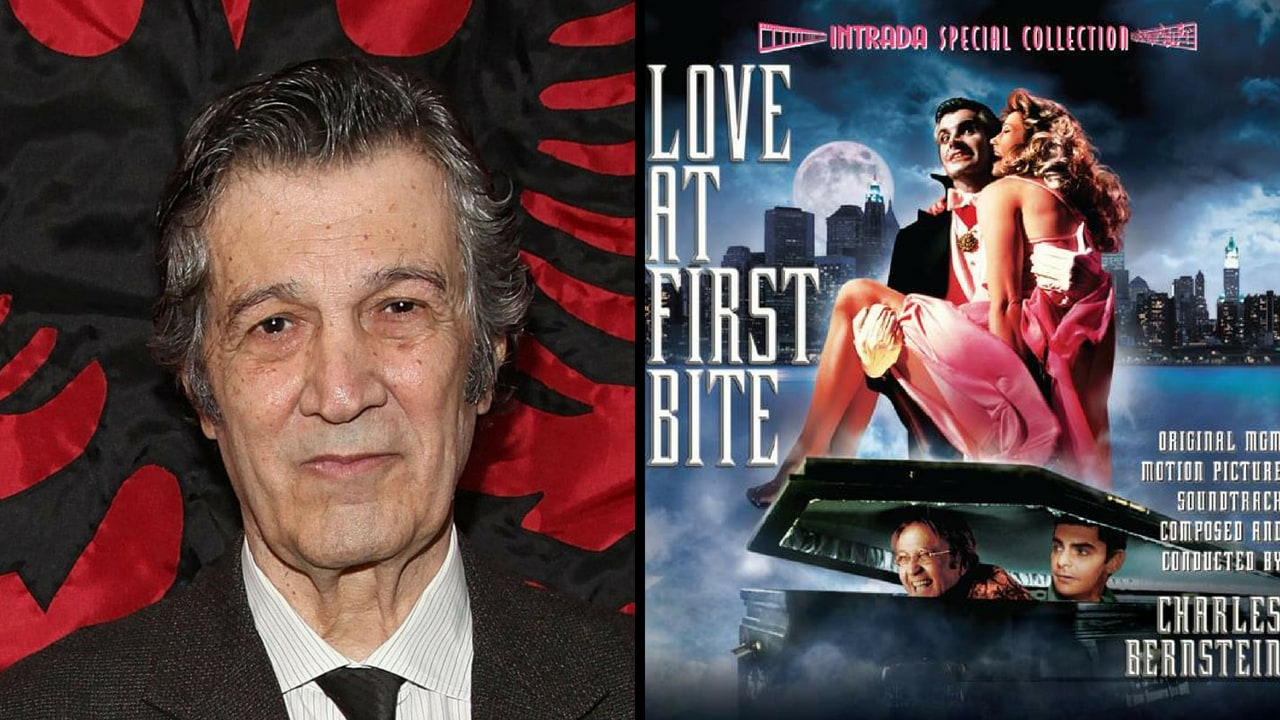 Stan Dragoti (left) and the poster of Love at First Bite. Facebook /@sessiondays, @movieguy247