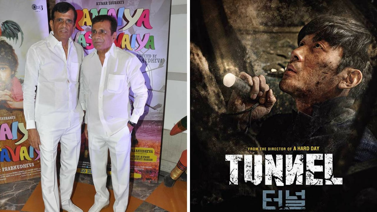 Abbas-Mustan (left),Poster of Tunnel. Images from Facebook