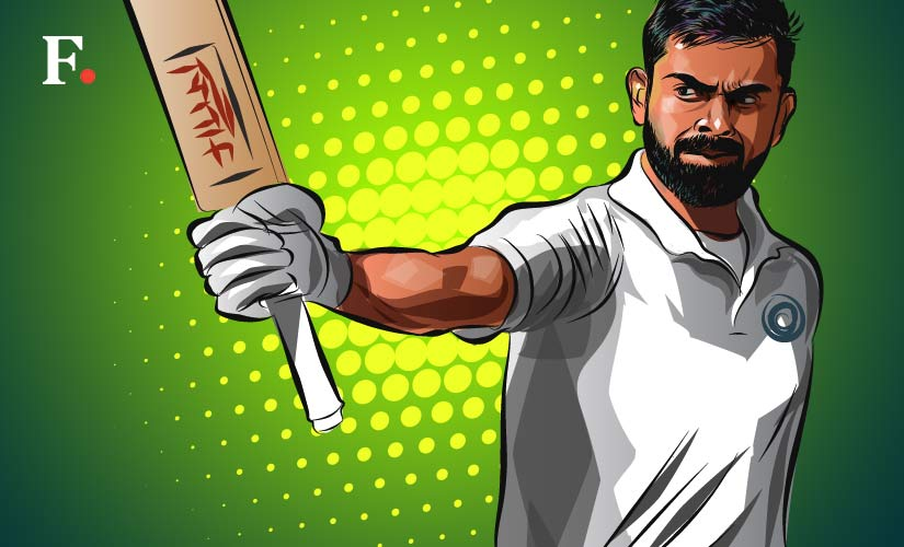 Virat Kohli has made technical adjustments to be better prepared against the moving ball. Artwork by Rajan Gaikwad