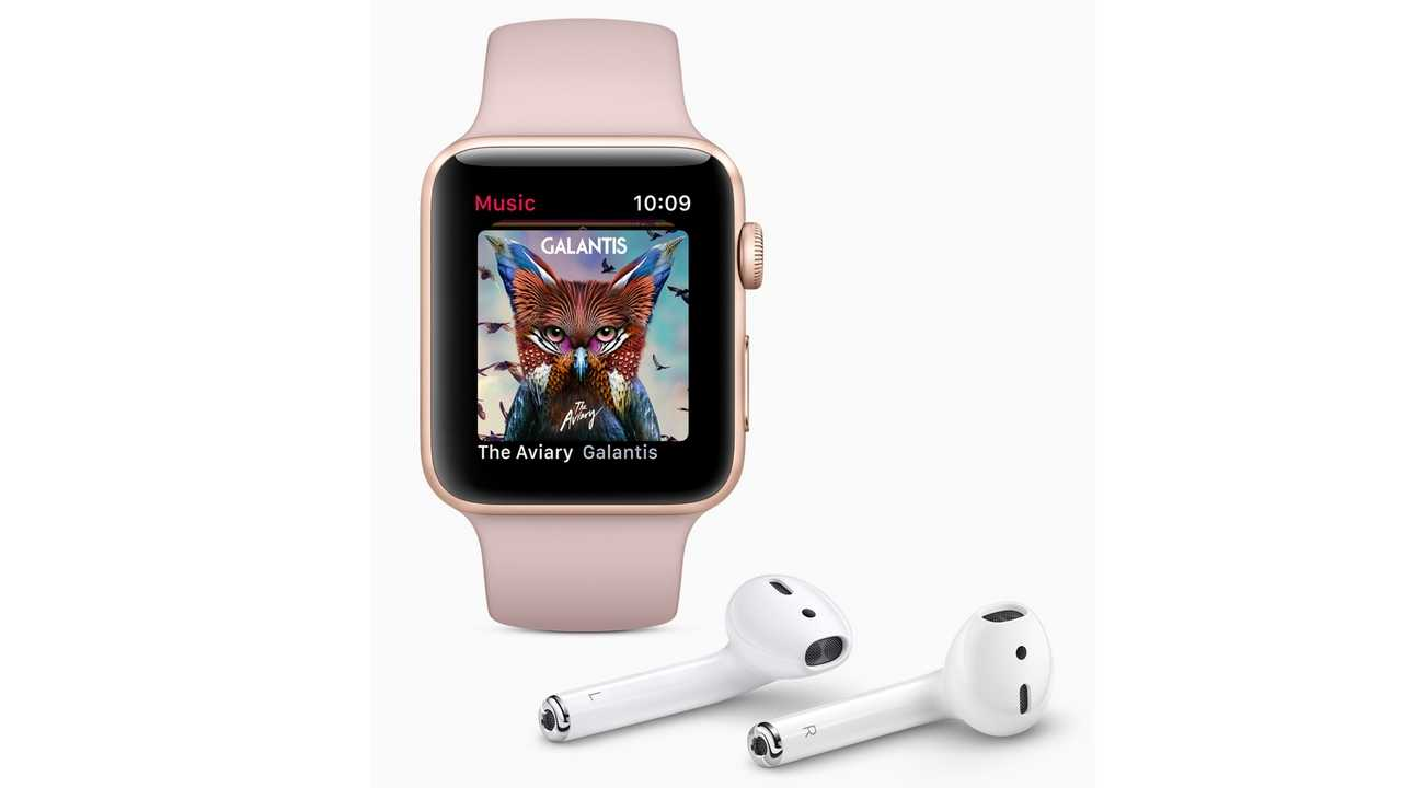 Apple Watch Series 3 Cellular lets you stream Apple Music to any bluetooth headset. Image: Apple