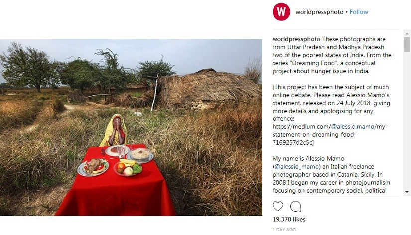 From Alessio Mamo's Dreaming Food series, posted on the World Press Photo Foundation's Instagram account