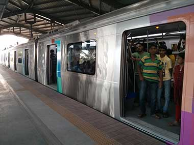 File image of Mumbai Metro.