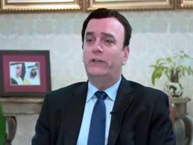 File image of Ambassador to India Ahmed Albanna. YouTube screengrab.